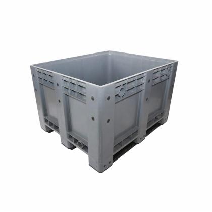 Solid Plastic Pallet Box, Plastic Pallet Container, Heavy Duty Plastic Box